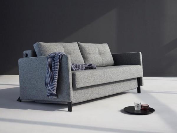 Innovation Cubed 160 Schlafsofa mit Armlehnen Granite