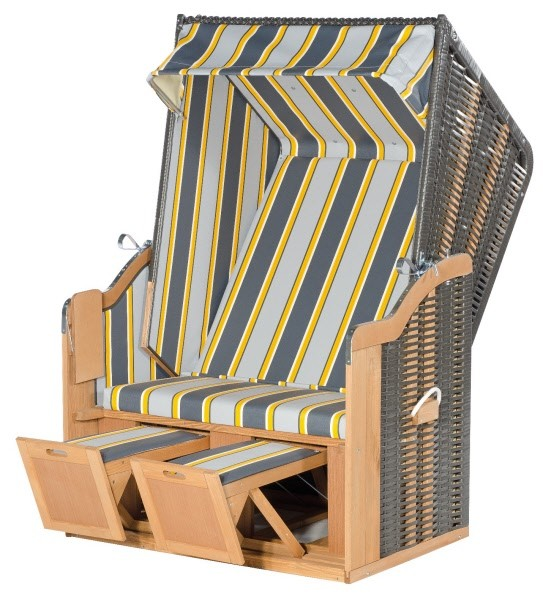 Sunny Smart Strandkorb Rustikal 50 Basic anthrazit-gelb-weiß