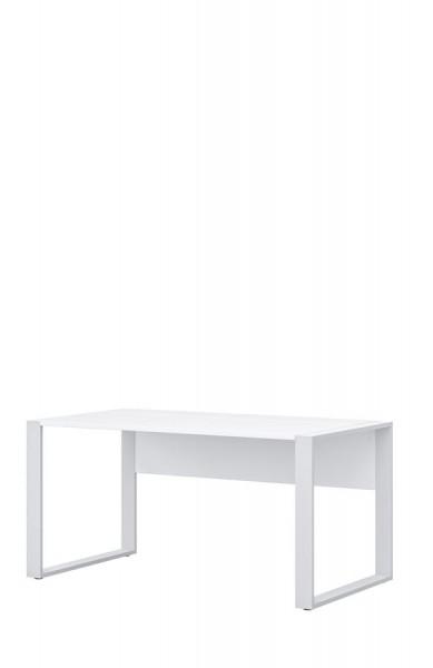 Schreibtisch direct 150 cm Dekor Weiß mit Kufenfuß