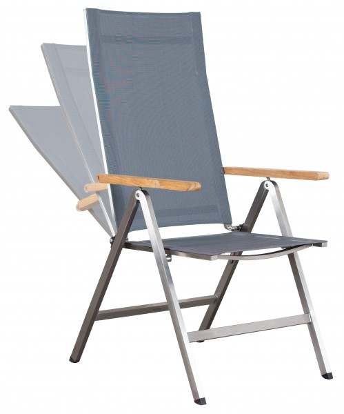 deVries Lute Relaxsessel Hochlehner grey