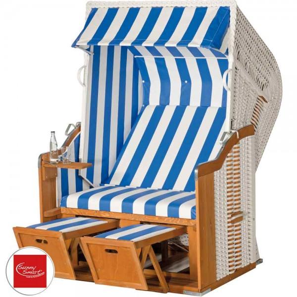 Sunny Smart Strandkorb Rustikal 250 Basic weiß/blau