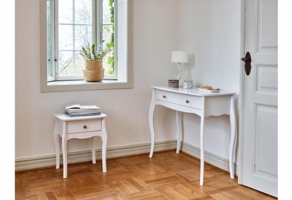Steens Nachttisch Baroque 001 weiß