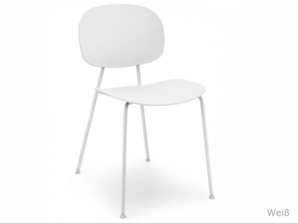 Infiniti Tondina Pop Stuhl Gestell Matt Weiß