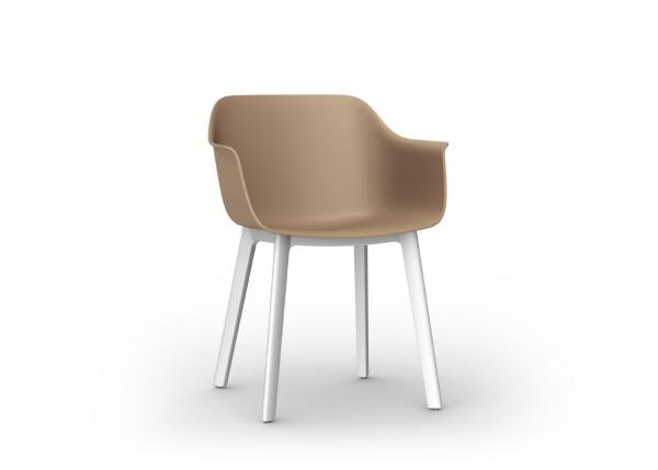 Resol Stuhl Shape Click sand/weiß (2er-Set)