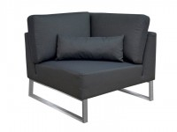 Loungegruppe-Modul Bari Ecke Silvertex Livingruhm