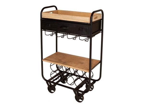 Küchenwagen Lucille Stehtisch Metall Mango Industrial Design
