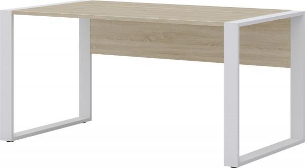 Schreibtisch direct 150 cm Dekor Sonoma Eiche mit Kufenfuß