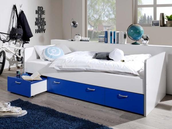 Bett Bonny Kinderbett 90x200 cm mit Stauraum Blau