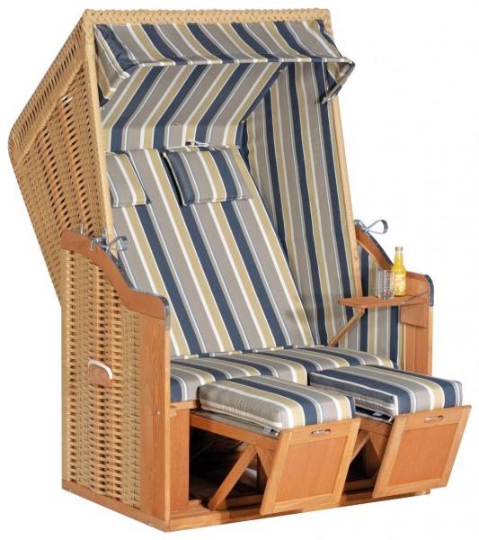 Sunny Smart Strandkorb Rustikal 50 Plus beige-blau