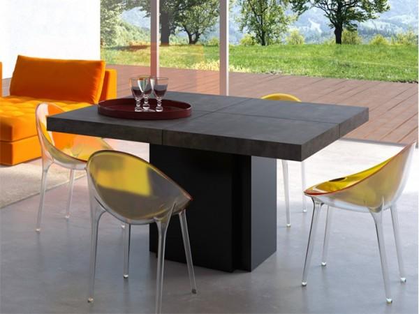 Temahome Dusk Esstisch Beton&Schwarz 130x130cm