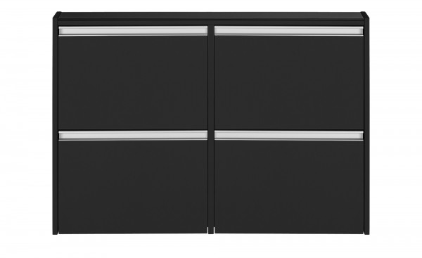 Steens Schuhschrank Skyline 192 in schwarz/braun