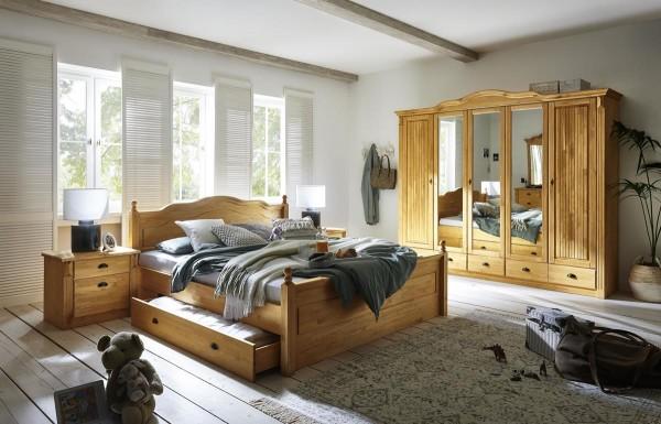 Schlafzimmer im Landhausstil Inga laugenfarbig 4 teilig
