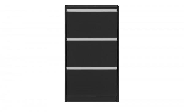Steens Schuhschrank Skyline 195 in schwarz/braun