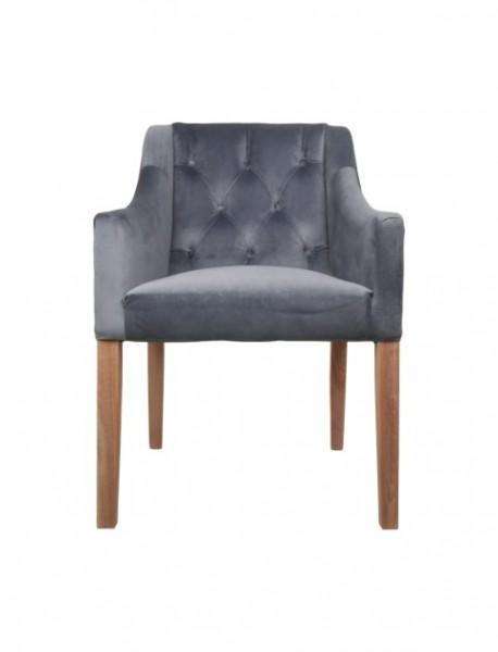 Stuhl Jersey Samt Grau von HenkSchram