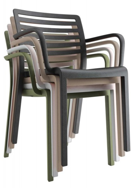 Resol Design Stuhl Lama mit Armlehne Gartenstuhl Barcelona Dd