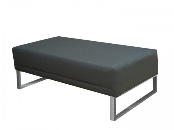 Fußhocker Bari für Gartenset Silvertex 110x61cm Livingruhm