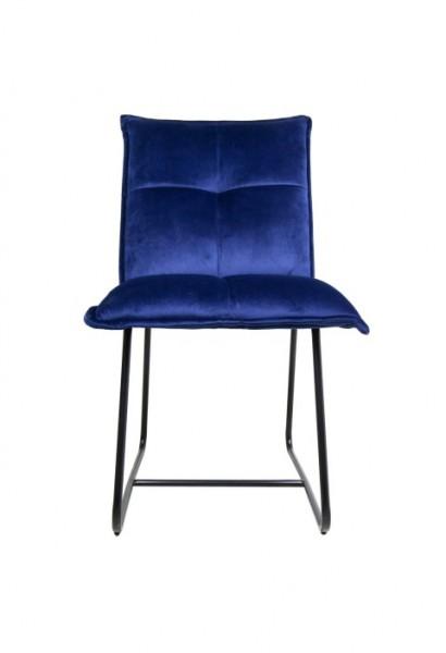 Stuhl Estelle Samt blau von HenkSchram