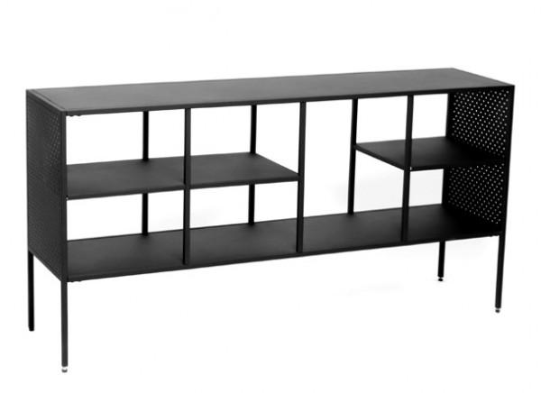 Kommode Brooks Metall schwarz lackiert 140 cm breit