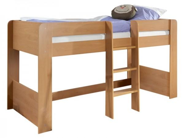 Bett Andi Kinderbett Hochbett 90x200 cm Buche