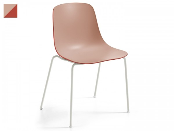 Infiniti Stuhl Pure Loop Binuance 4er Set stapelbar Gestell Weiß