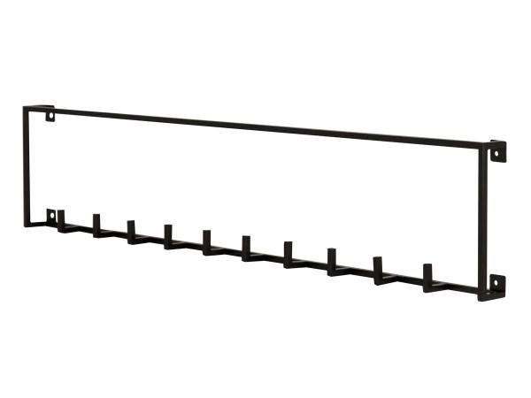 Hakenleiste Joy Garderobe Metall schwarz 82 cm breit