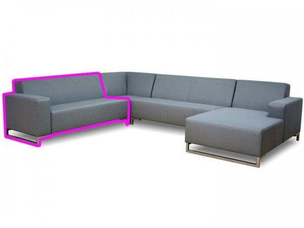 Loungegruppe-Modul Lynn Abschluss links 2.5-Sitzer Silvertex Livingruhm