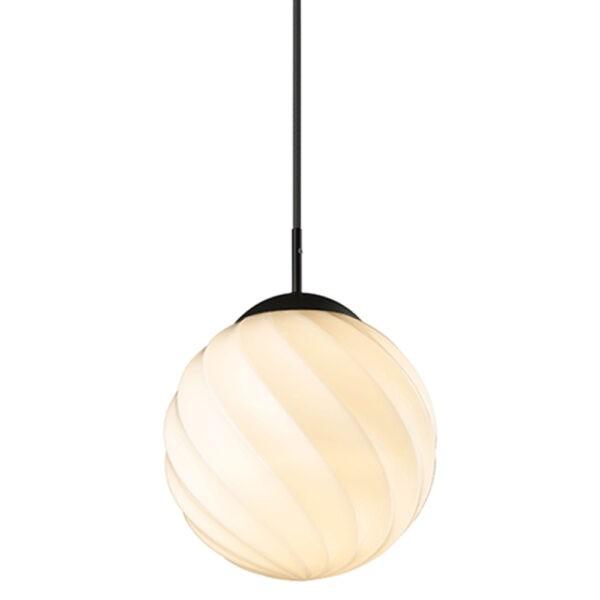 Halo Design Pendelleuchte Twist Ball Ø25 cm schwarz