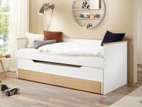 Bett Ronny 90x200 cm Funktionsbett 2 Liegeflächen Bettkasten 2 Schubladen
