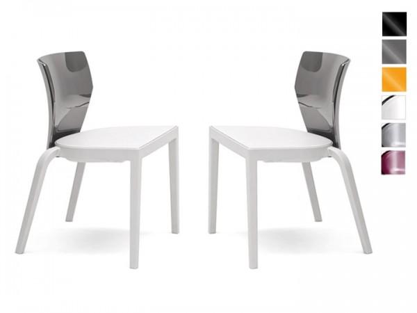 Infiniti Stuhl Bi 2er Set stapelbar Weiß