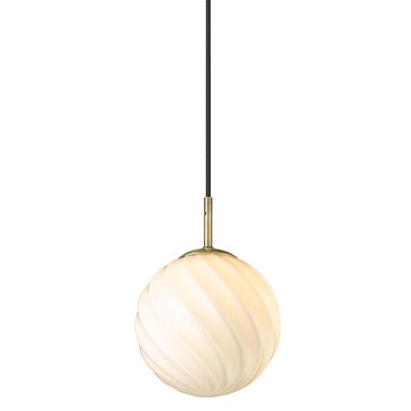 Halo Design Pendelleuchte Twist Ball Ø15 cm Antik Messing