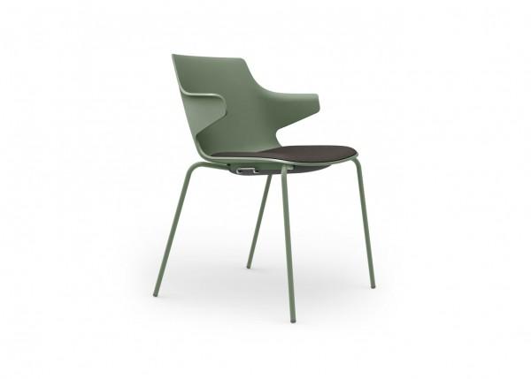 Resol Stuhl Angie olivgrün (2er-Set)