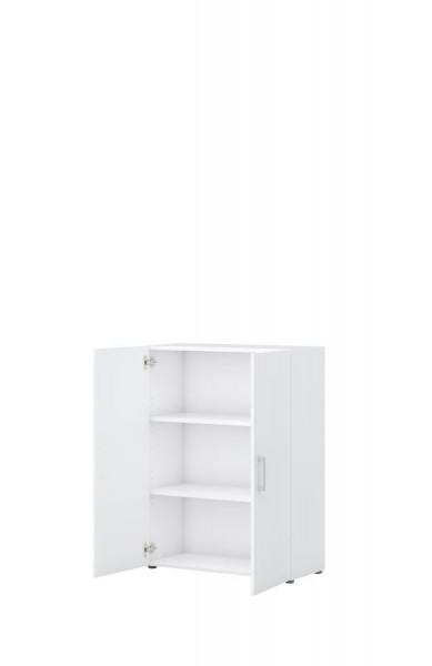 Aktenschrank direct Korpus Weiß Front Weiß 3 Ordnerhöhen 2 Türen