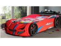 Autobett Superdrift mit Rollrost 90x200cm Rot Kinderbett Spielbett