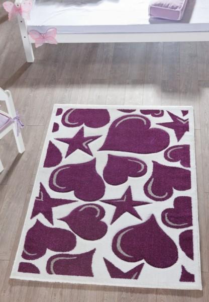 Relita Teppich lila/weiß Sterne, 170 x 120cm