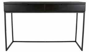 Konsole Cara Metall schwarz 120 cm breit mit 2 Schubladen