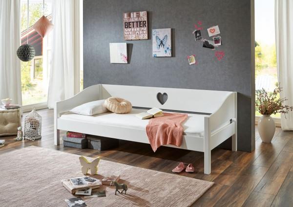 Bett Elsa Weiß 90x200 cm Kojenbett Kinderbett
