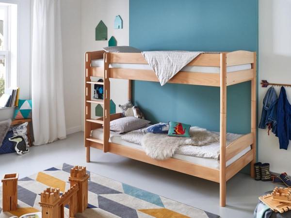 Etagenbett Michelle 90x200cm Buche massiv Kinderbett