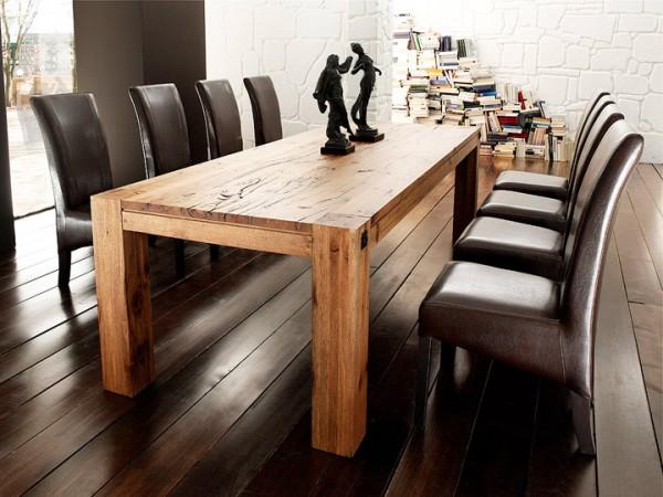 MCA furniture Leeds Esstisch Eiche massiv 260x100 cm