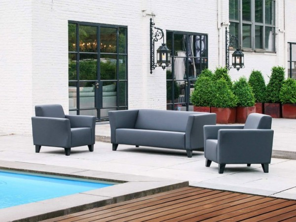 Loungegruppe Solo für den Garten 5-teilig Silvertex Livingruhm