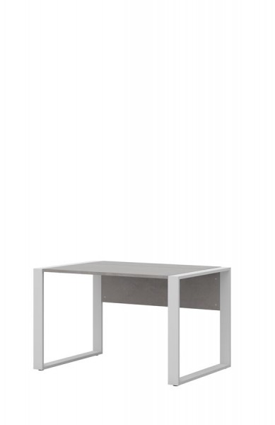 Schreibtisch direct 120 cm Dekor Beton mit Kufenfuß