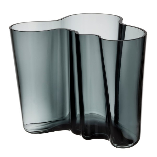 iittala Aalto Vase 160 mm dunkelgrau