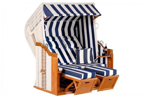 Sunny Smart Strandkorb Rustikal 250 XL Plus weiß/blau