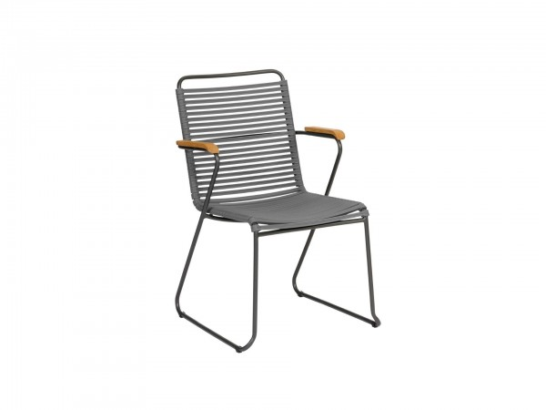Exotan Stuhl Ripp Grau mit Armlehne