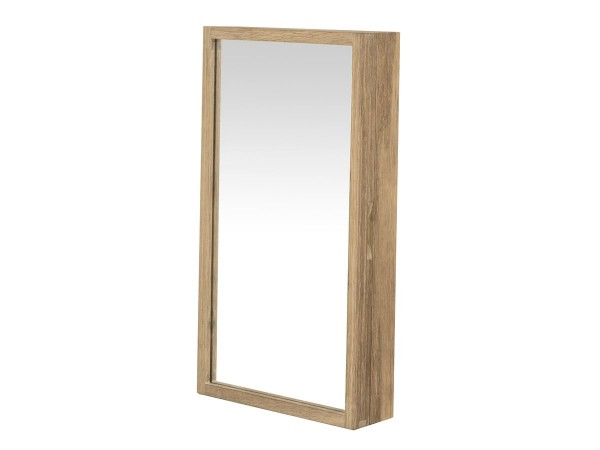 Schlüsselschrank Uno Garderobe mit Spiegel Eiche white wash 25 cm breit