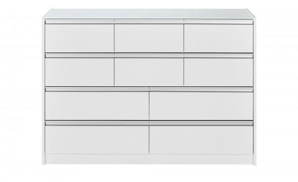 Steens Kommode Skyline 048 mit 10 Schubladen in weiß