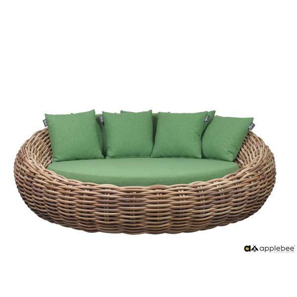 Apple Bee Cocoon Designer Gartenbett Geflecht grün 220cm breit
