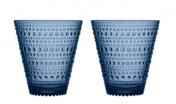 iittala Trinkglas Kastehelmi 0,3 l Regenblau (2er-Set)