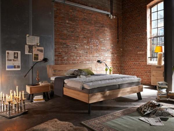 Massivholzbett 180x200cm Modern Sleep Tjoernbo