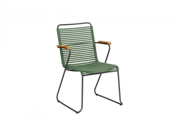 Exotan Stuhl Ripp Grün mit Armlehne