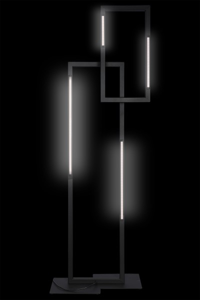 ZTahl LED-Stehleuchte Veneto schwarz